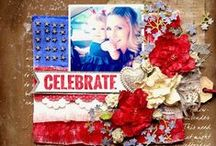 Scrapbooking-Patriotic Layouts / by Janine