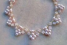 Beadwork - Bridal Jewelry / #Wedding #White #Bride #Bridal