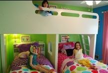 "Three Girl Room / Two girls already share a room and the ""baby"" is old enough to join in the fun now....for their birthdays this year, they are getting a ""new"" room / by Heather Lowery"