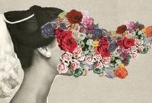 COLLAGE / collaged papers, vintage emphemera, mixed media
