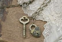 Arsenic & Old Lace / lace, buttons, satin ribbon, pearls... beautiful vintage creations
