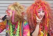 Harajuku Happiness / ♥ the freestyle, whimsical, colorful style... Makes me smile real big