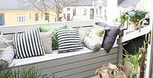 Balconies / Outdoor space comes in many sizes! Whatever yours is - embrace it and create a little oasis of outdoor living