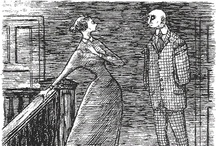 Art: Edward Gorey / Edward St. John Gorey (February 22, 1925 – April 15, 2000) was an American writer and artist noted for his macabre illustrated books.