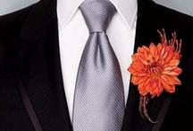 Orange & Gray Wedding / Orange & gray (or is it grey?) wedding theme inspiration
