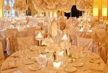 The White (& Metallic) Wedding! / The white-on-white wedding ... amped up with metallic accents!