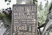 Cabin ideas / by Catherine Lantiegne
