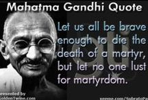 Mahatma Gandhi Quote / Mahatma Gandhi (October 2, 1869 - January 30, 1948) was the pre-eminent political and ideological leader of India during the Indian independence movement.