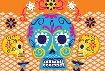 Dia De Los Muertos style / Craft and decoration projects, style and colourful costume and delights from the Mexican festival dia De Los Meurtos. We love the bold colours and vibrancy!