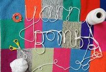 Yarn bombing for joy! / Creating guerilla and textiles art through crafting and sharing skills!