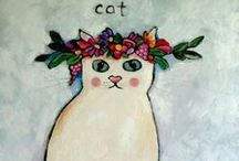 ♥~meow~♥ /  (((Dedicated to my beloved cat~~MITZI~I love you♥)))  / by Karen Fuertsch