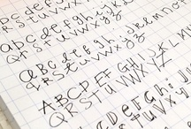 Lettering, Fonts and Types / by Molly Binks