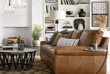 Leather Furniture / Bassett is celebrating all things leather in furniture and dome decor!