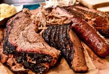 Up in Smoke / I am from Texas and to have great BBQ you must smoke your meats low and slow. Smoking a Brisket, or Pork, or Chicken with an indirect heat is called BBQ. Some people use a grill and call it BBQ; this just isn't so! / by Bart Pena