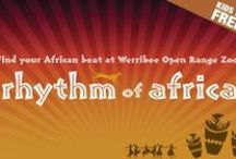 Rhythm of Africa at Werribee Open Range Zoo / Rhythm of Africa returns to Werribee Open Range Zoo and will be running every Saturday night from 10 January to 28 February. Be inspired and explore the sounds and flavors of Africa this summer! / by Zoos Victoria