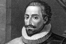 MIGUEL DE CERVANTES / Ο Μιγκέλ ντε Θερβάντες Σααβέδρα (Don Miguel de Cervantes y Saavedra, 29 Σεπτεμβρίου 1547 – 22 Απριλίου 1616) ήταν Ισπανός λογοτέχνης, ποιητής και θεατρικός συγγραφέας. Το έργο του ανήκει χρονικά στη «χρυσή εποχή» (περ. 1492-1648) της Ισπανίας, κατά την οποία παρατηρήθηκε μία εξαιρετική άνθιση στις τέχνες, ενώ ο ίδιος αποτελεί έναν από τους μείζονες λογοτέχνες παγκοσμίως. Το διασημότερο μυθιστόρημά του, ο Δον Κιχώτης, συγκαταλέγεται στα κλασικά έργα της παγκόσμιας λογοτεχνίας.