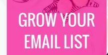 Grow Your Email List / How to grow your email list, email marketing, email lists, subscribers, opt-in freebies, lead magnets, Mailchimp, Convertkit, what to send subscribers, email subject line ideas