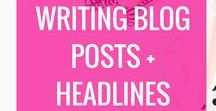 Blog Post Writing, Headlines & Writing Tips / Blog post writing tips, blog post ideas, headline templates, how to write a blog post, how to write blog posts in WordPress, how to write headlines, writing  headlines, how to write amazing headlines, headline templates, power words, words to use in blog posts, writing hacks, how to write blog posts, best blog posts, how to write headlines, power words, copywriting, writing techniquies, how to write better, writing articles for freelance clients