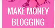Make Money Blogging / Make money blogging, how to make money blogging, blogging, affiliate marketing, e-courses, make a full-time income blogging