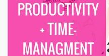 Productivity + Time-Management / Productivity, productivity for bloggers, time-management, blogging planners, blogging productivity tips, how to be productive when working at home, staying focused, staying focused while working from home, time-management, how to stay focused
