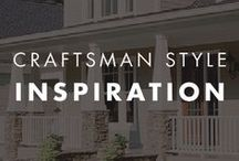 Craftsman Style Inspiration / #Color combinations that perfectly suit a #craftsman style home.