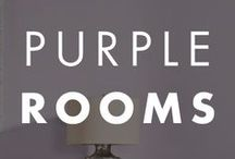 Purple Rooms / Purple color inspiration for your home.