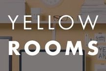 Yellow Rooms / Paint color inspiration in yellow.