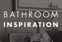 Bathroom Inspiration / An assortment of styled #bathrooms to help you find your paint #color inspiration #BEHRPaint