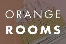 Orange Rooms / From bright to cream we seek to inspire your paint color selection in shades of orange.