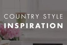 Country Style Inspiration / Country style and color inspiration for your home.