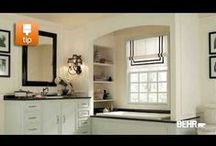 How To Paint Interiors: Videos / BEHR Paint provides step by step instructions to help you transform your interior room with a coat of paint. / by BEHR®