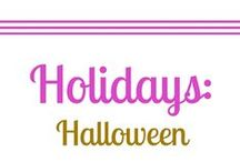 Holiday: Halloween / Halloween is my favorite holiday. I love scary movies, dressing up, costumes, horror movies, trick-or-treat, recipes, DIY, crafts,