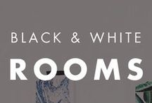 Black and White Rooms / Black and white accent walls can add style and sophistication to any home.