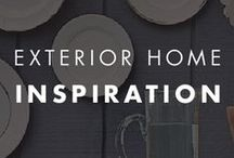 Exterior Home Inspiration / Make the outside of your home look as beautiful as the inside with this collection of exterior home decorating ideas. Find inspiration for everything from your front porch to your backyard with easy DIY projects and color palettes using modern paint shades.