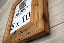Reclaimed Wood Frames / There is more to reclaimed wood than just barn wood. Check out these other awesome woods. Reclaimed Wood Frames...Crafted to Inspire!
