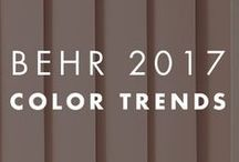 BEHR 2017 Color Trends / We are pleased to announce the arrival of our 2017 palette, a curated collection of livable, fashion-forward hues segmented into 3 lifestyle collections: Comfortable, Composed and Confident. Each is designed to be inspirational and personal, tailored to help you create a home that fits your style and personality.