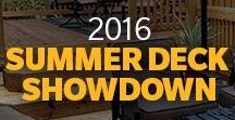 2016 Summer Deck Showdown / 2016 Cabot Summer Deck Showdown, back and better than ever as people across the country showed us how (and how much) they enjoy their decks. Fierce competition led to two big winners, but there were so many inviting entries, we just had to share them.