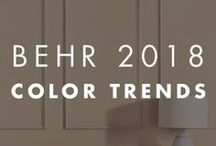 BEHR 2018 Color Trends / The idea of mindfulness is all about awareness. The 2018 Color Trends are especially relevant as we look for ways to balance all of our activities, reduce stress and increase the moments of joy in our lives. Being mindful also includes the experiences we engage in to maximize our sense of ease and contentment. This translates into the home by means of simplification, curation and using color to enhance our living spaces.