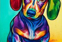 DOXIES FOR NANA / I love doxies and would have many more if I could afford them. / by Janet Gruhala