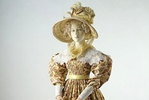 """Romantic Era Costume / Loosely defining """"Romantic Era"""" as mid-1820s to late 1830s"""