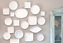 WALL OF PLATES, FRAMES, MIRRORS. / by Makenzie Mae