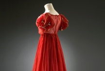 """Regency Costume: Reds and Pinks / Loosely defining """"Regency"""" as mid-1790s to mid-1820s"""