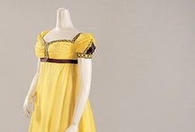 """Regency Costume: Yellows and Oranges / Loosely defining """"Regency"""" as mid-1790s to mid-1820s"""