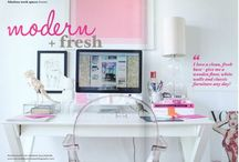 HOME OFFICE IDEAS / Lovely home office ideas and inspiration that will make you want to give your space a makeover.