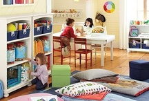 Kid Playroom / Gathering ideas to build a safe and beautiful area for the kids, a playroom for them to get creative.