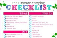 Camping Checklist / Don't forget a thing with a camping checklist.  Camping checklists with kids, camping checklists for solo camping and more!  For free printable camping checklist visit www.savingmoneycamping.com