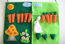 Felt Animals and Plants / felt animals, felt plants, felt veggies, felt farm animals, felt vegetables, felt fruits
