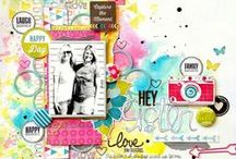 Scrapbook Page Ideas / scrapbook pages, scrapbooking, layouts, paper crafts