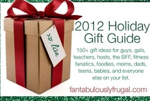 2012 Holiday Gift Guide / #gifts for everyone on your shopping list this year! Our 2012 Holiday Gift Guide features gifts for men, women, teens, children, and babies! Check out the whole guide here: http://fantabulouslyfrugal.com/2012-holiday-gift-guide/