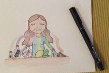 Dibujos / acuarela..  http://instagram.com/rororoab